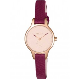 Radley Ladies Wimbledon Rose Gold Purple Strap Watch RY2414