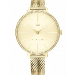 Tommy Hilfiger Kelly Gold Plated Crystal Dial Mesh Strap Watch 1782114
