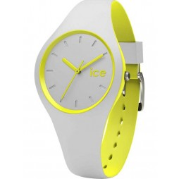 Ice-Watch Ladies Ice Duo Grey Yellow Strap Watch DUO.GYW.S.S.16