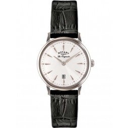Rotary Ladies Black Leather Strap Watch LS90050/02