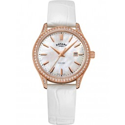 Rotary Ladies White Oxford Watch LS05096/41
