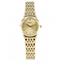 Rotary Ladies Gold Tone Watch LB02624-03