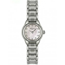 Rotary Ladies Stainless Steel Mother of Pearl Watch LB02601-07