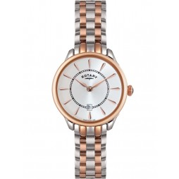 Rotary Ladies Two Tone Steel Watch LB02917/02
