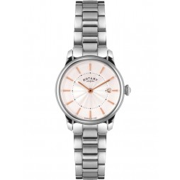 Rotary Ladies Locarno Silver Toned Watch LB02770/07