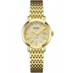 Rotary Ladies Gold Plated Windsor Watch LB05303/03