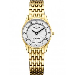 Rotary Ladies Gold Plated Ultra Slim Watch LB08303/01