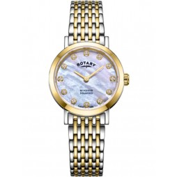 Rotary Ladies Windsor Two Tone Diamond Watch LB05301/41/D