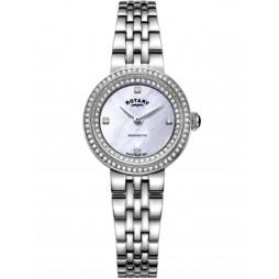 Rotary Ladies Kensington Mother Of Pearl Crystal Watch LB05370/41