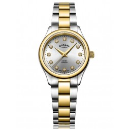 Rotary Ladies Oxford Two Colour Diamond Bracelet Watch LB05093/44/D