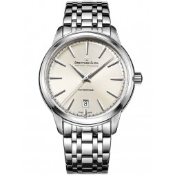 Dreyfuss Mens Silver 1890 Watch DGB00160/32