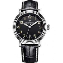 Dreyfuss and Co Mens Black Leather Strap Watch DGS00152/19