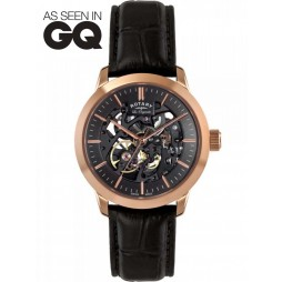 Rotary Mens Jura Limited Edition Skeleton Watch LE90540/04