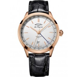 Rotary Mens Les Originales Rose Gold Plated Strap Watch GS90183/02