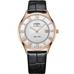 Rotary Mens Les Originales Ultra Slim Strap Watch GS90804/01