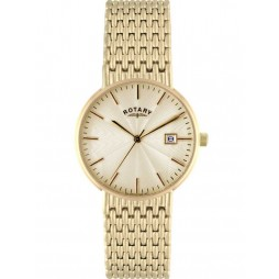 Rotary Mens Gold Plated Watch GB02808-03