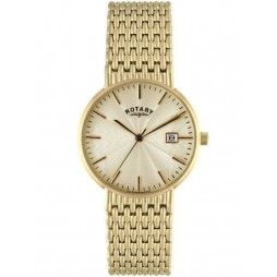 Rotary Mens Gold Tone Watch GB02808-03