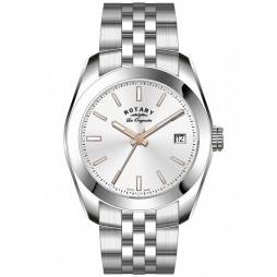 Rotary Mens Silver Watch GB90110/06