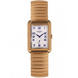 Rotary Mens Gold Plated Expandable Bracelet Watch GBI00521/06