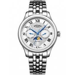 Rotary Mens Moonphase Bracelet Watch GB05065/01