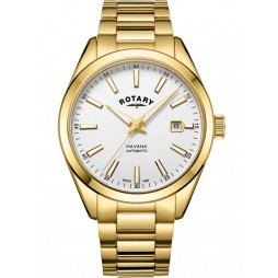 Rotary Mens Gold Plated Havana Watch GB05081/02