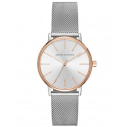 Armani Exchange Ladies Two-Tone Mesh Bracelet Watch AX5537