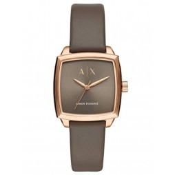 Armani Exchange Rose Tone Leather Strap Watch AX5454