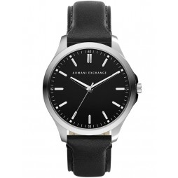 Armani Exchange Mens  Black Leather Strap Watch AX2149