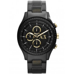 Armani Exchange Mens Black Chronograph Bracelet Watch AX1604