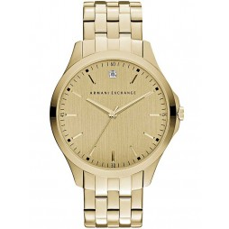 Armani Exchange Mens Gold Plated Bracelet Watch AX2167