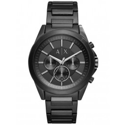 Armani Exchange Mens Black Stainless Steel Bracelet Watch AX2601