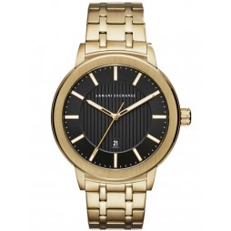 Armani Exchange Mens Gold-Plated Bracelet Watch AX1456