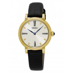 Seiko Ladies Gold Plated Strap Watch SFQ814P2