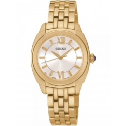 Seiko Ladies Discover More Gold Plated Bracelet Watch SRZ428P1