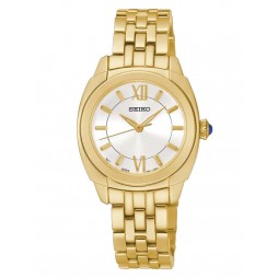 Seiko Ladies Gold Plated Watch SRZ428P1