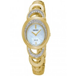 Seiko Ladies Oval Stone Set Watch SUP298P1