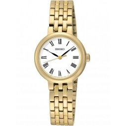 Seiko Discover More Gold Plated Bracelet Watch SRZ464P1