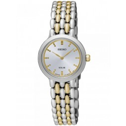 Seiko Discover More Solar Two Tone Bracelet Watch SUP349P1