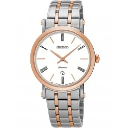 Seiko Ladies Premier Two Tone Bracelet Watch SXB430P1