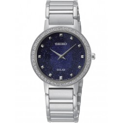 Seiko Ladies Discover More Solar Blue Bracelet Watch SUP433P1