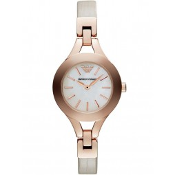 Emporio Armani Ladies Leather Strap Watch AR7354