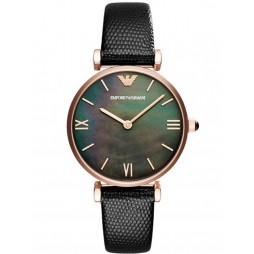 Emporio Armani Ladies Rose Gold-Plated Strap Watch AR11060