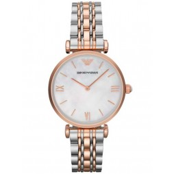 Emporio Armani Ladies Two Tone Watch AR1683