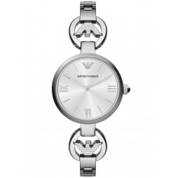 Emporio Armani Ladies Silver Dial Watch AR1772