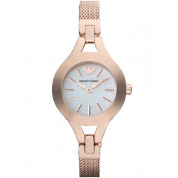 Emporio Armani Ladies Rose Gold Watch AR7329