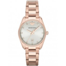 Emporio Armani Ladies Rose Gold Plated Bracelet Watch AR6065