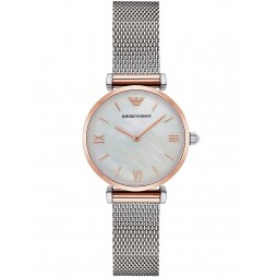 Emporio Armani Two Colour Mesh Bracelet Watch AR2067