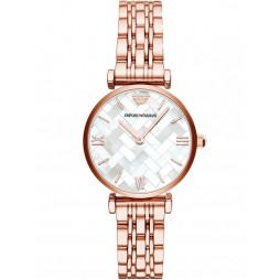 Emporio Armani Ladies Rose Tone Bracelet Watch AR11110