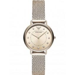 Emporio Armani Ladies Kappa Gold Plated Mesh Bracelet Watch AR11129
