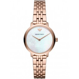 Emporio Armani Ladies Rose Gold Plated Bracelet Watch AR11158